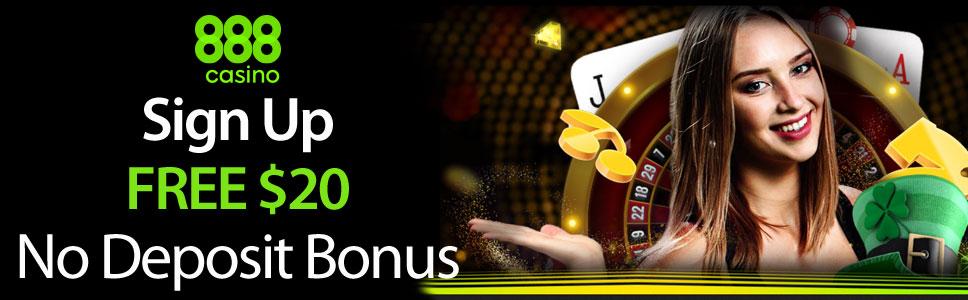 888 Casino 20 No Deposit Bonus For Slots