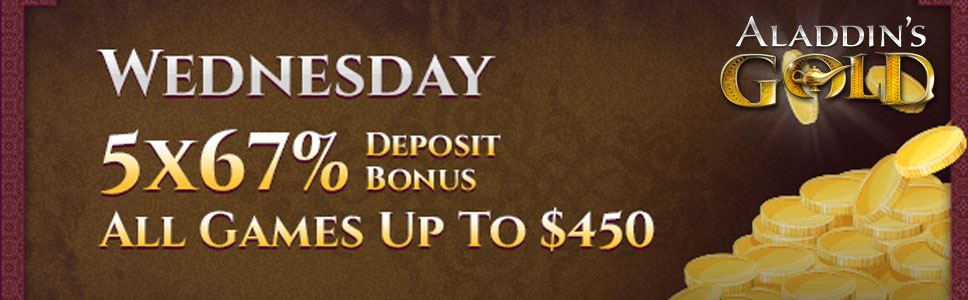 Aladdin S Gold Casino 67 Wednesday All Games Bonus