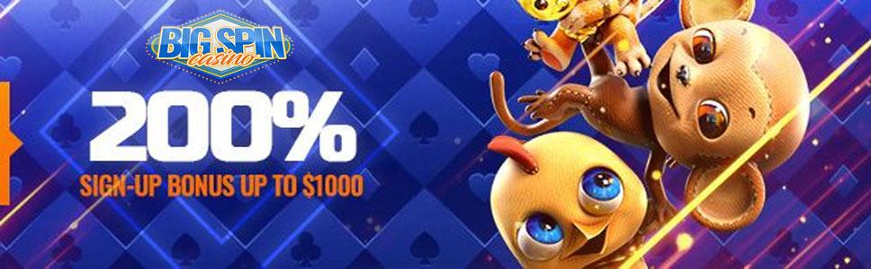 Big Spin Casino Welcome Bonus