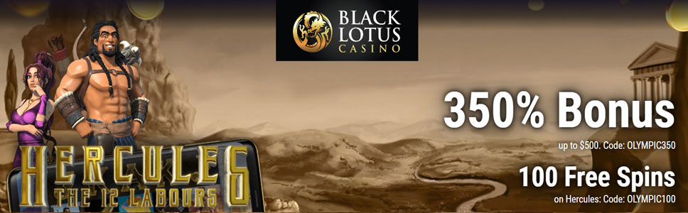 Black Lotus Casino 500 Match Bonus 100 Free Spins