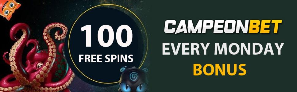 Campeonbet Casino 100 Free Spins Bonus