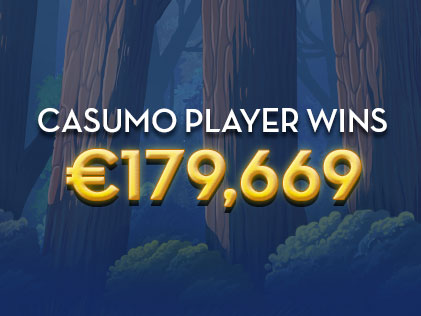 Casumo Player wins €179,669 Over 8 days by Making a Single Deposit of €100