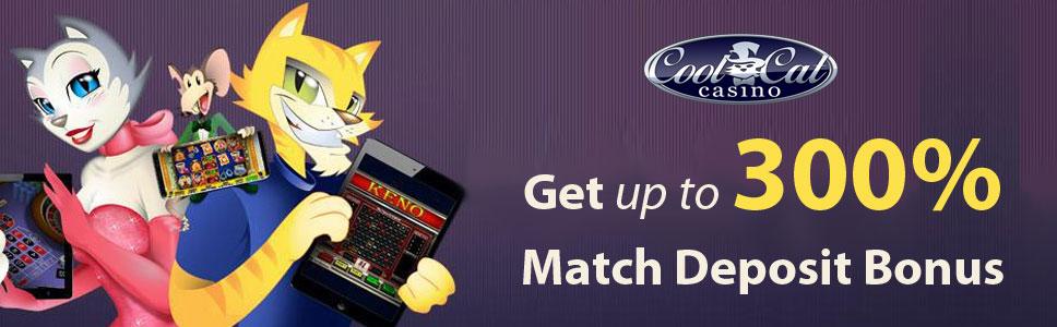 Cool Cat Casino Match Deposit Bonus Get Up To 300