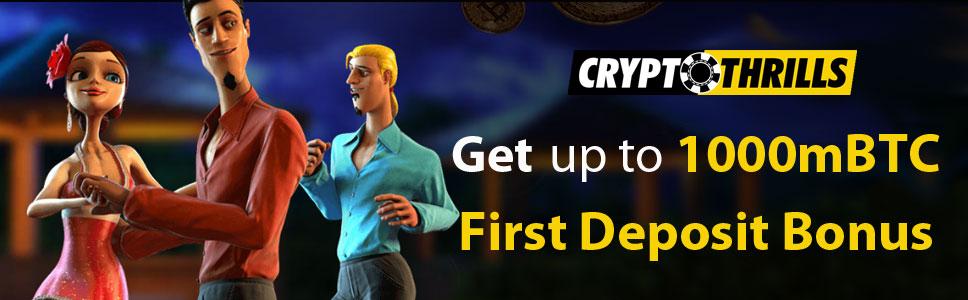 Crypto Thrills Casino New Player Bonus