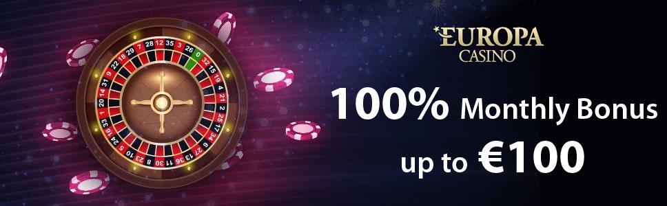 Europa Casino Monthly Bonus