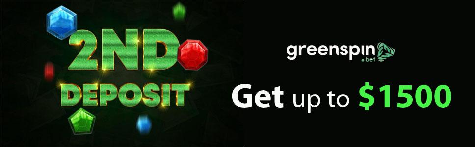 Green Spin Casino Second Deposit Bonus