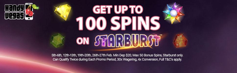 Handy Vegas Double Starburst Spins Promotion