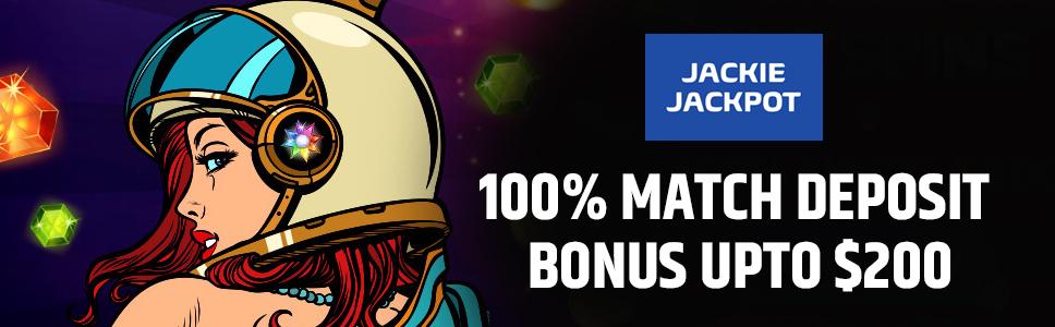 Jackie Jackpot Casino Welcome Bonus
