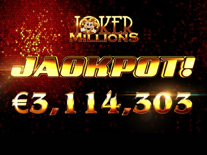 Joker Million Delivers a Massive Win of €3.1M to a Lucky Betsson Player