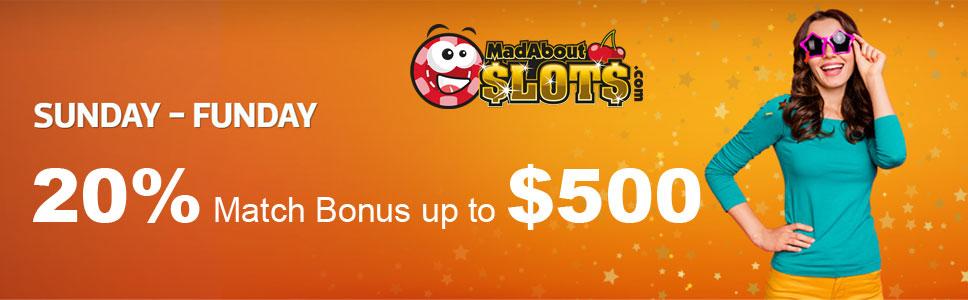 Mad About Slots Casino Sunday Funday Promotion