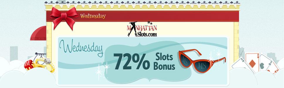 Manhattan Slots Casino Wednesday Offer
