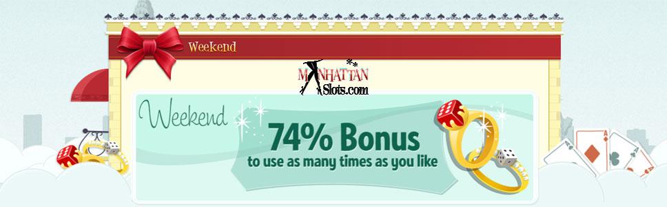 Manhattan Slots Casino Weekend Offer