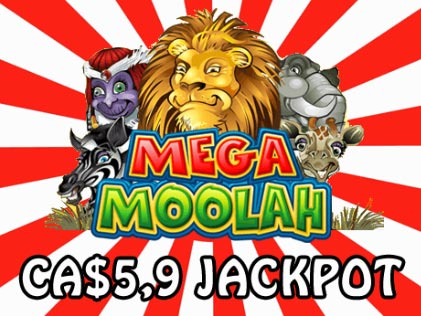 A CA$5.9 Million Jackpot Drops on Mega Moolah Slot on 10th August 2019