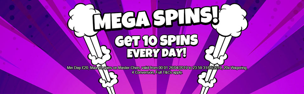 Love Reels Mega spins Offer