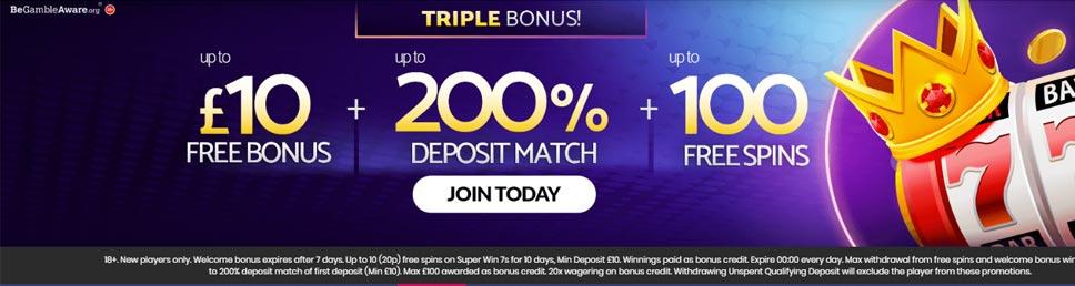 mFortune Casino Tripe Bonus