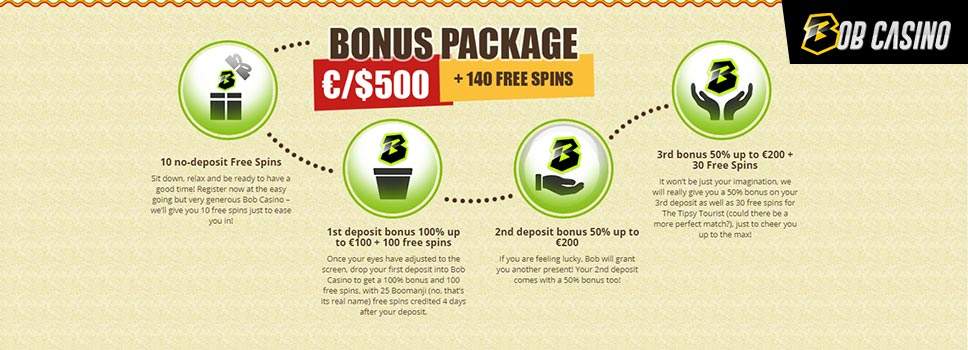 Bob Casino Bonus Package