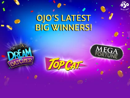 It's Raining Big Wins at Play OJO Casino including Two 100K Wins & Another £34, 362 Win!