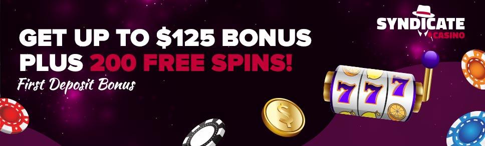 Syndicate Casino New Player Bonus