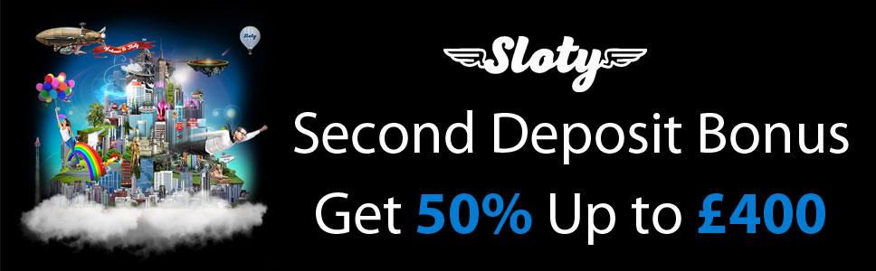 Sloty Casino Second Deposit