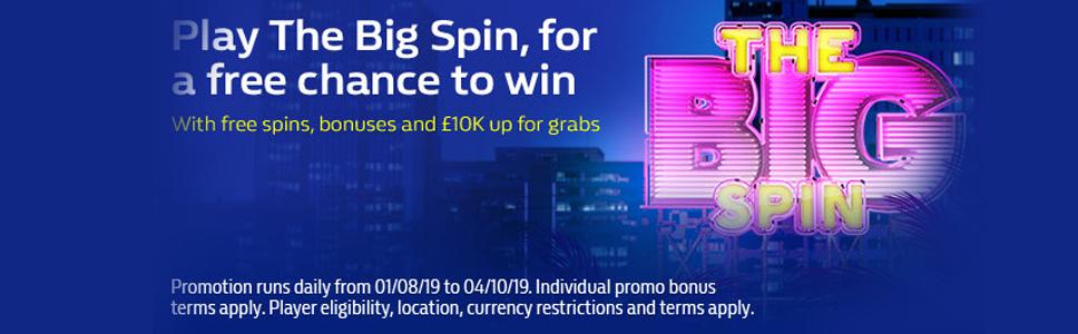 William Hill Casino Big Free Spin