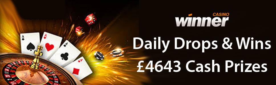 Winner Casino Daily Drops & Wins Promotion
